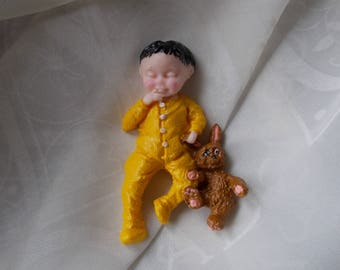 Baby with teddy,Card making,Box frames,Craft,Baby showers,