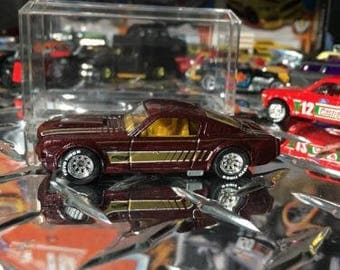 Custom Hot Wheels 65 Ford Mustang Fastback Rubber Tires