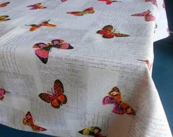 "Rectangular tablecloth 6 places, ""Butterflies"""