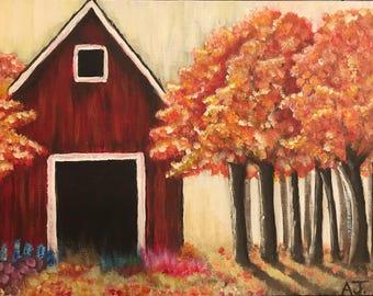 Barn in early Fall