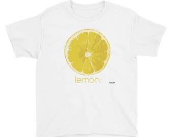 Lemon T-Shirt - Kids - Foodie - Chef - Organic