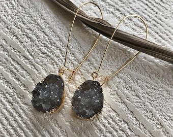 granite earrings //