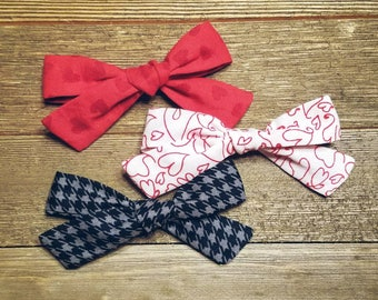 Love Letter | Handmade Cotton Baby Hair Bow Set of 3