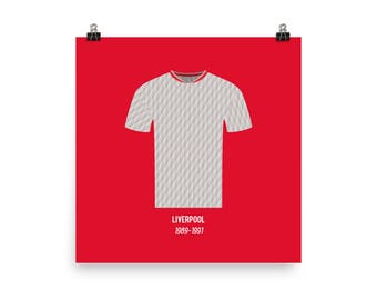 Liverpool Away Football Jersey Poster