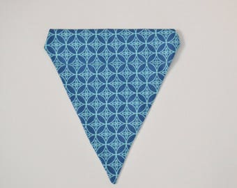 Blue Geometric Bandana
