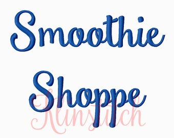 50% Sale!! Smoothie Shoppe Embroidery Fonts 5 Sizes Fonts BX Fonts Embroidery Designs PES Fonts Alphabets - Instant Download