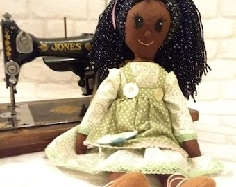 Hand made one of a kind traditional rag doll