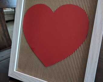 Valentine's Day Decor. Framed 8x10 size frame. May be stood or hung.