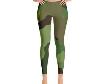 Camouflage Leggings - Camo Leggings - Womens Leggings - Yoga Leggings - Workout Legggings - Army Leggings - Camping Leggings