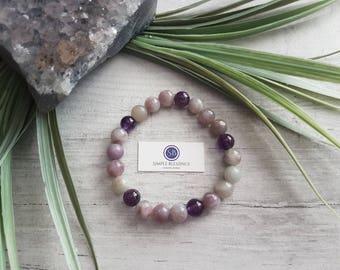 Lilac Jasper Healing Bracelet