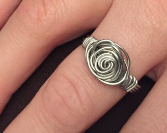 ladies rosette ring