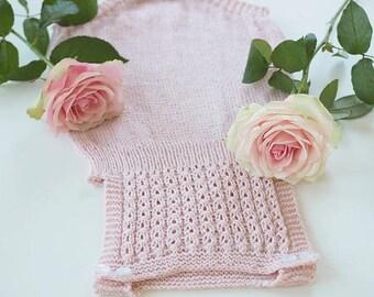 Kuzzy Design Knit Baby Romper,Newborn Photo Costume,Newborn,3/6/9/12/24 month,Knitted Romper,Baby Romper,Girl Romper