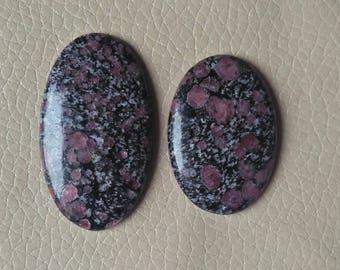 Ruby Matrix Cabochon, Ruby in Matrix Oval Shaped Wonderful Ruby Fol Gemstone Weight 112 Carat, Size 47x27x7, 39x27x7 MM Approx.