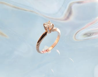 Rose Gold Daimond Engagement Ring