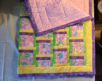 "Handmade Baby Quilt - 45""x35"""