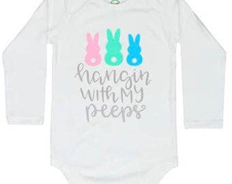 Easter rabbit infant onesie