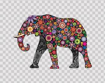 Floral Elephant feng shui 09295