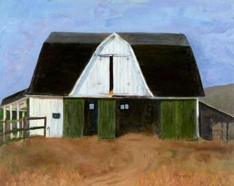 "Cards-note pkg of 4. blnk inside. ""The Tractor Barn"""