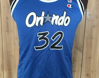 Vintage Kids Shaquille O'Neal Orlando Magic 1990s 90s NBA Basketball Champion Jersey - vintage jersey - vintage nba (Kids XL)