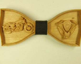 Wood bow tie  Men's Bow Ties Wood bowtie Motorcycle Boyfriend gift Motor Unique Bow Tie Father day gift