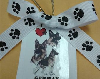 I heart German Shepherds ornament