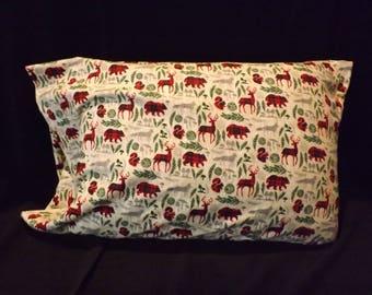 Lodge look flannel pillowcase - standard size