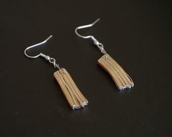 Striped earrings