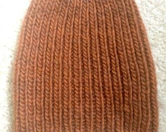 Warm Brown Knitted Hat!