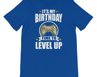 Video Game Gamer Birthday Level Up Short-Sleeve Unisex T-Shirt