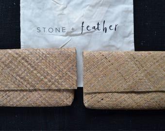 Natural Bamboo clutch | purse