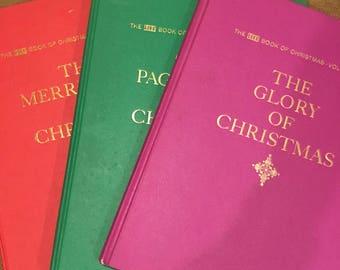 Vintage 3 volume Life Christmas books