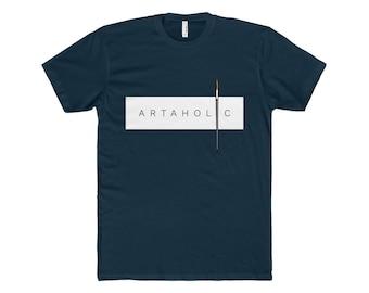 Artaholic MenS Premium Fit Crew TShirt