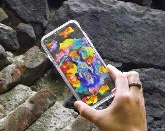 Phone case pintada a mano de elefante / elephant phone case handpainted