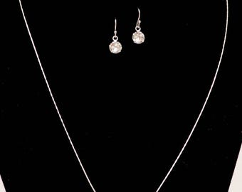 Sterling silver Swarovski crystal set