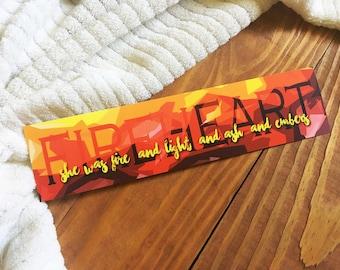 Fireheart Bookmark