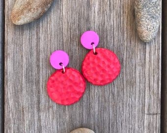 Red colour pop dangles