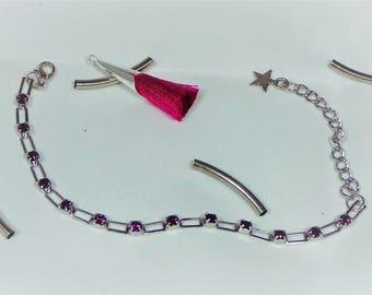 Swarovski Bracelet adjustable in silver.