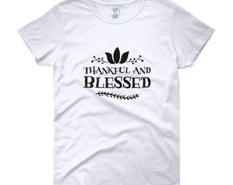 Thankful and Blessed Women's Short Sleeve T-Shirt