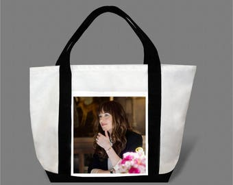 Dakota Johnson Jamie Dornan Canvas Tote Bag #0017