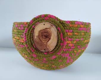 Large Multi-colored Rope Bowl
