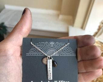 Customized Lotus Charm Necklace