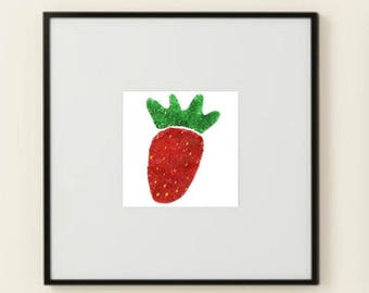 Strawberry Fields Printable Wall Art Poster Instant Download