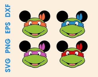 Mouse ninja turtles svg Ninja turtles head Ninja turtle mask svg Cricut svg Mouse head svg