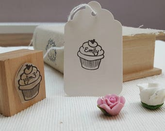 Baking Stamp with Cupcake For Crafts And Baking, Rubber Stamps