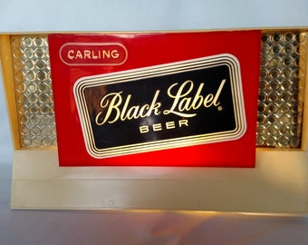 Vintage Carling Black Label Beer lighted sign