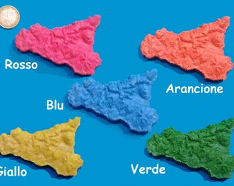 5 Magnets Sicily various colors