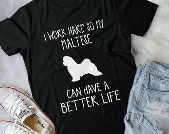 Maltese Art, Maltese Dog, Maltese Gift, Dog Lover Gift, Maltese Gifts, Dog Lover, Maltese Shirt, Dog Shirt