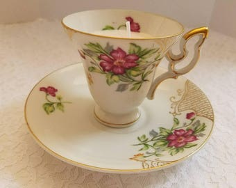 UCAGCO Tea Cup and Saucer Soy Candle