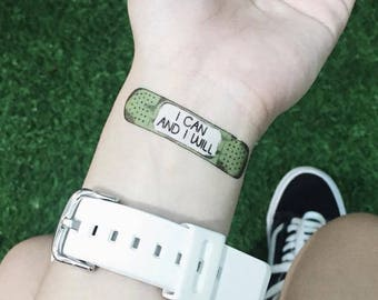 Rider Plasters Motivational Temporary Tattoos Self Care Mental Health Well-Being