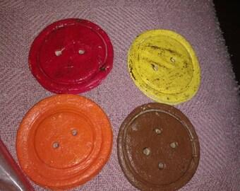 Large salt dough buttons bowl fillers set if 4 bowl fillers